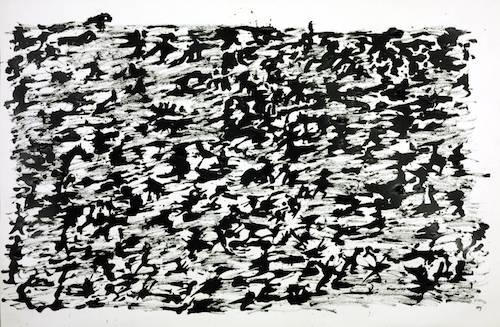 Untitled Chinese Ink Drawing 1961 by Henri Michaux 1899-1984