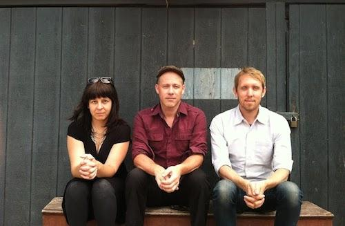 From left to right: Stephanie Young, David Buuck, Christian Nagler. Photo by Sara Wintz