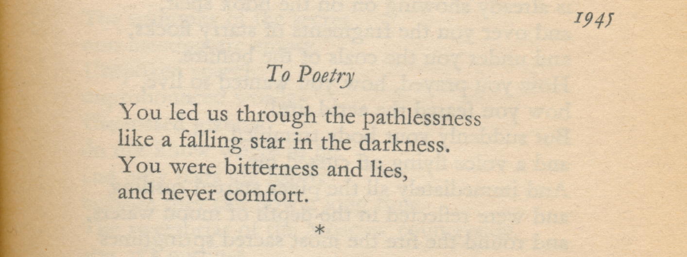 to poetry