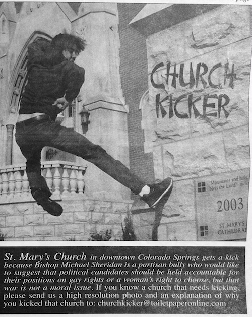 "Bryan Clopton as ""The Church Kicker"" ca. 2004"