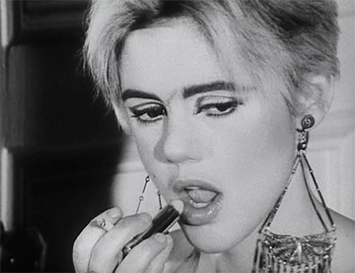 Edie Sedgwick in Warhol's film Face