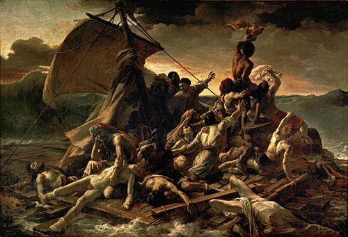 Raft of the Medusa, Theodore Gericault,  1818-1819