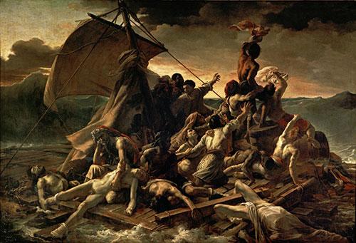 Raft of the Medusa, Theodore Gericault,  1818-1819