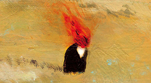From the cover of Richard Siken's War of the Foxes; artwork by David de las Heras.