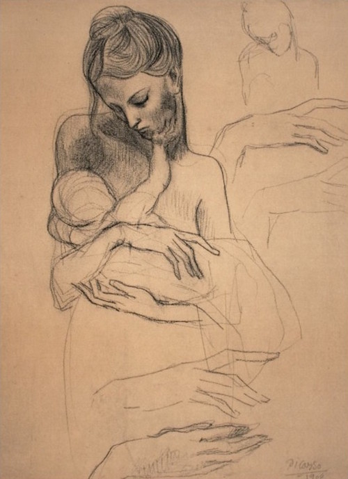 "Pablo Picasso, ""Mother and Child."""