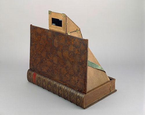 Book-form camera obscura from the Nekes collection, via the Getty's Open Content Program
