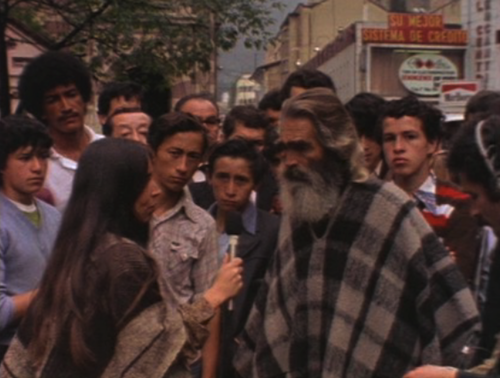 "Still from the film ""What is Poetry to You?"" by Cecilia Vicuña, Bogotá 1980"
