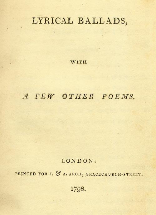 The Making of Lyrical Ballads by Harriet Staff | Poetry ...