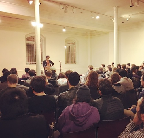 Rit Premnath reading for Giant Night: Artists Love Poets