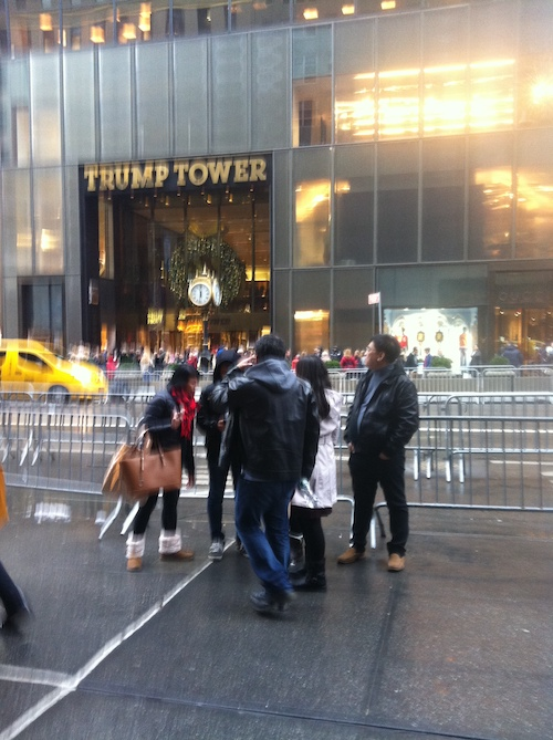 In front of Trump Tower, New York