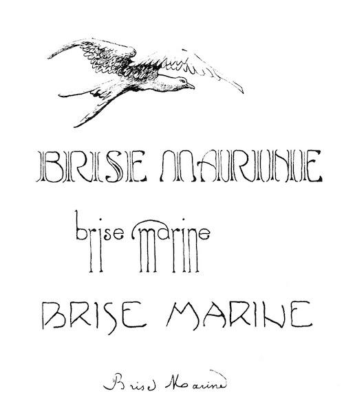 Brise Marine, cover