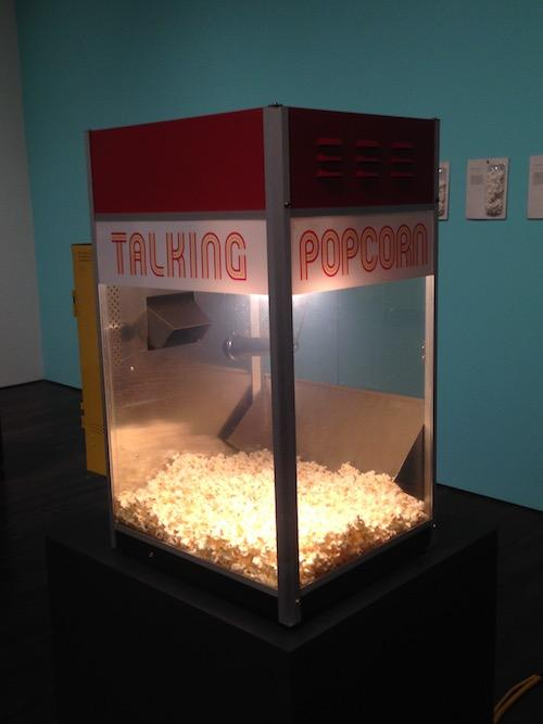 Nina Katchadourian, view from Talking Popcorn (2001) installation in the exhibition Curiouser at Blanton Museum of Art, The University of Texas at Austin, on view through June 11, 2017.