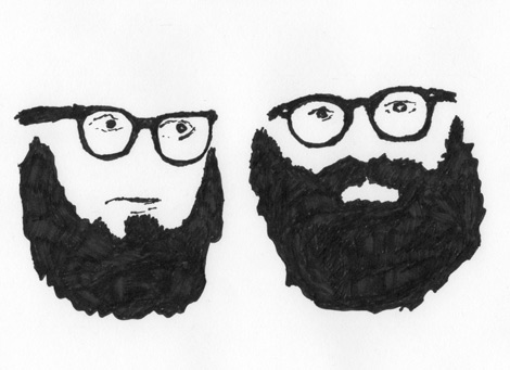 Berrigan and Ginsberg by Paul Killebrew