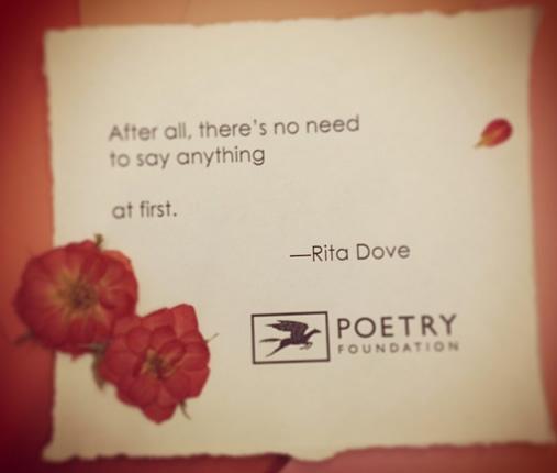 Valentineu0027s Poem | Rita Dove