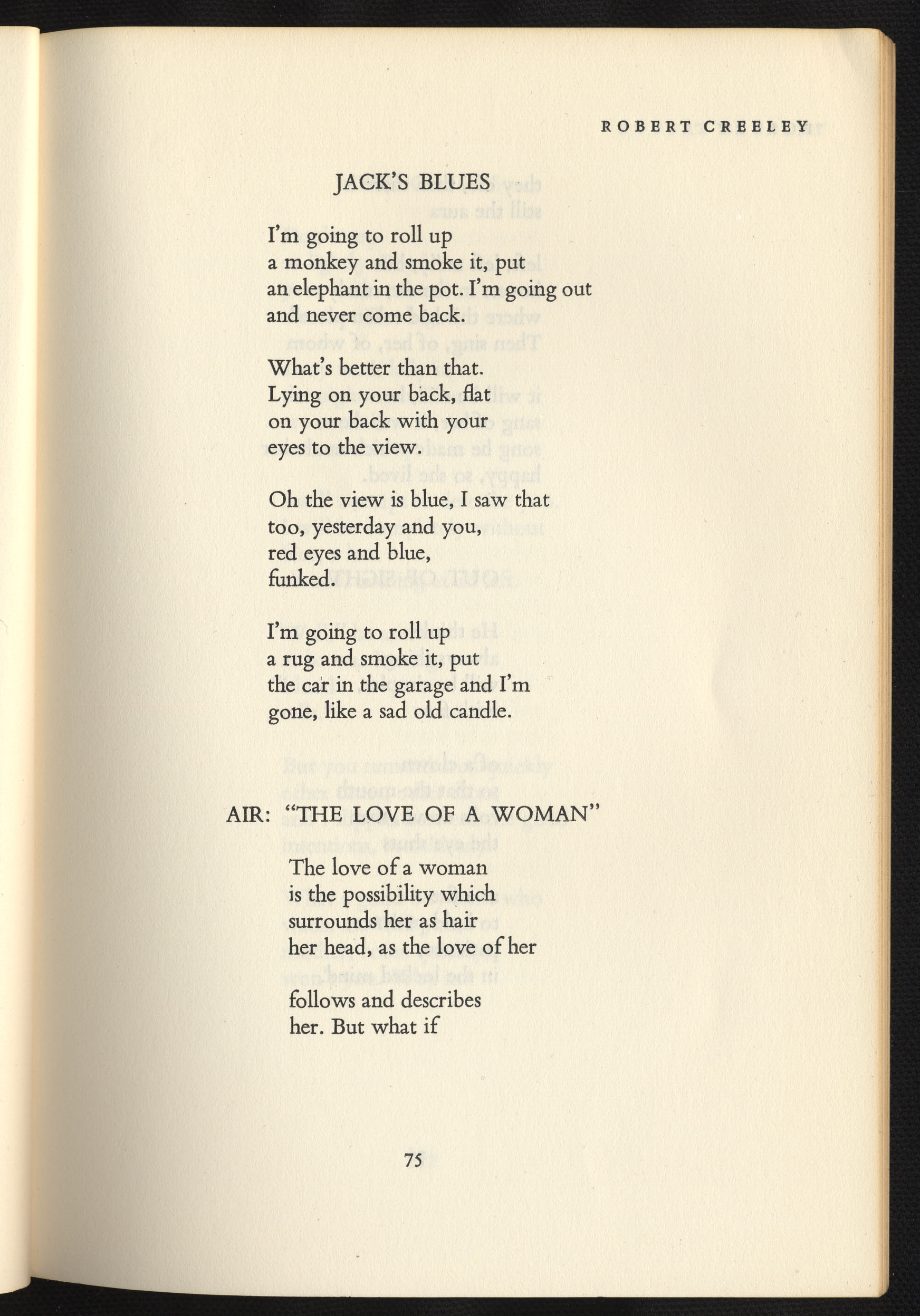 From The Archive Robert Creeley By The Editors Poetry