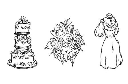 Wedding Poems. Illustration by Jason Novak