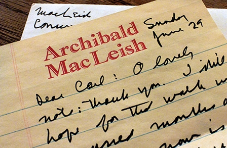 Letters from Archibald MacLeish