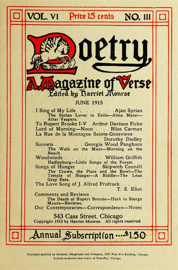 TOC Poetry Magazine June 1915, Issue 33